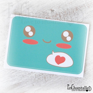 Kawaii sticker turquoise_EnChantalled