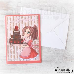 anime wenskaart taart_EnChantalled